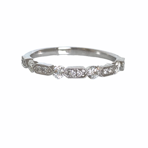 Diamond .31 Carat 14K White Gold Band