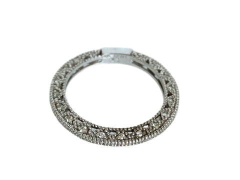 Diamond & 14K White Gold Band