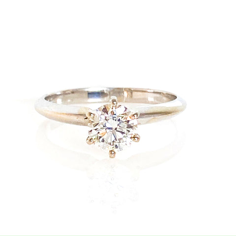 .70 Diamond 14K White Gold Engagement Ring