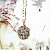 Waxing Poetic-Kristal  Pendant - Brass