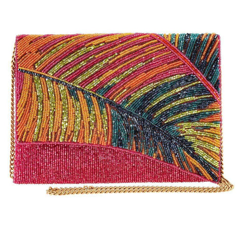Mary Frances-Hot Tropics Beaded Tropical Crossbody Clutch