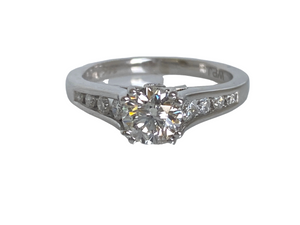 1.01 Carats 14k White Gold Diamond Engagement Ring
