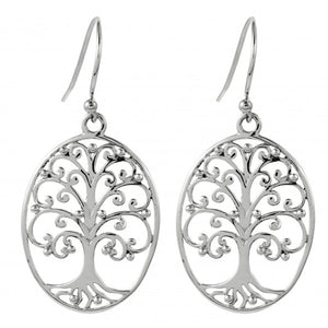 Southern Gates Oval Oak Tree Earrings