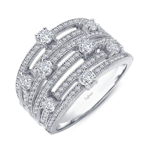 Lafonn-2.24 Carat Simulated Diamond, Sterling, Platinum Elegant Ring