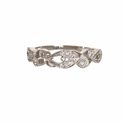 Diamond .15 Carat, 14K White Gold Band