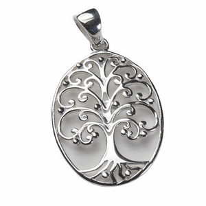 Southern Gates Medium Oval Oak Tree Pendant