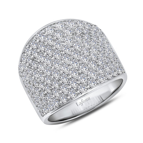 Lafonn-2.95 Carat Simulated Diamond, Sterling Silver, Platinum, Wide Band