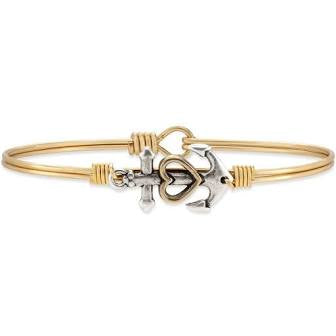 Luca + Danni-Anchor Bangle Bracelet
