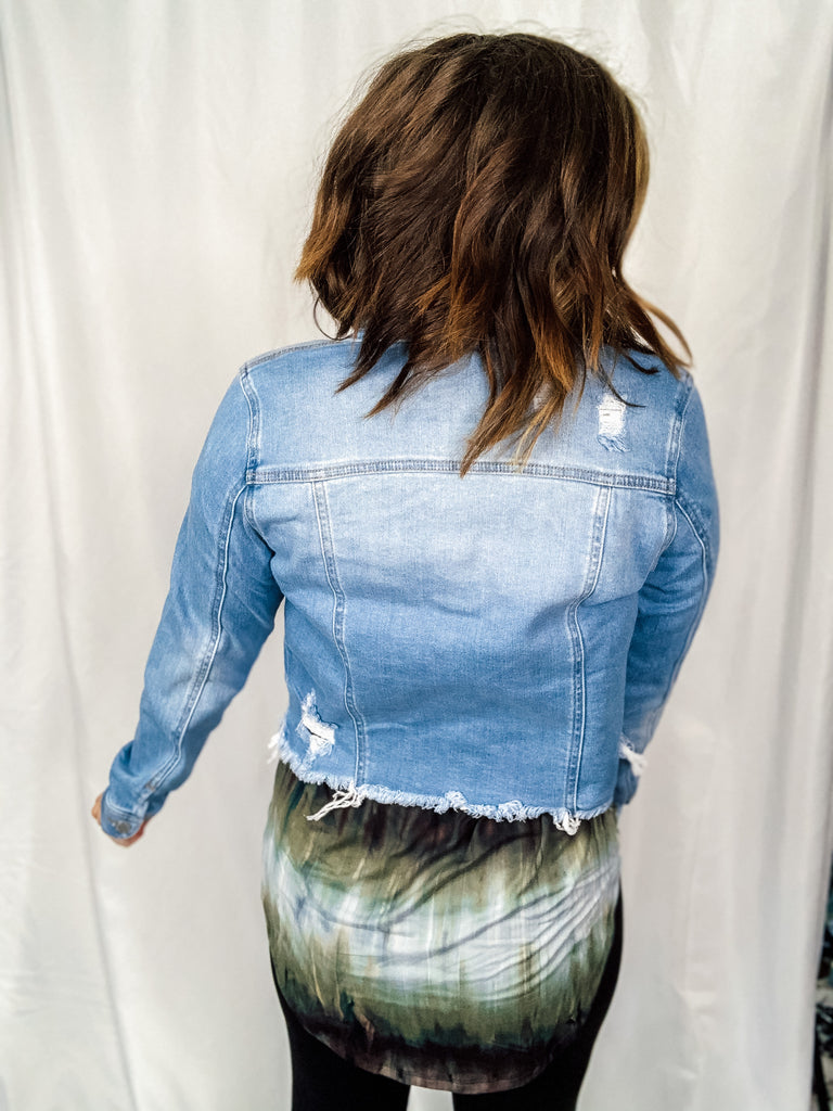 Your Everyday Distressed Denim Jacket
