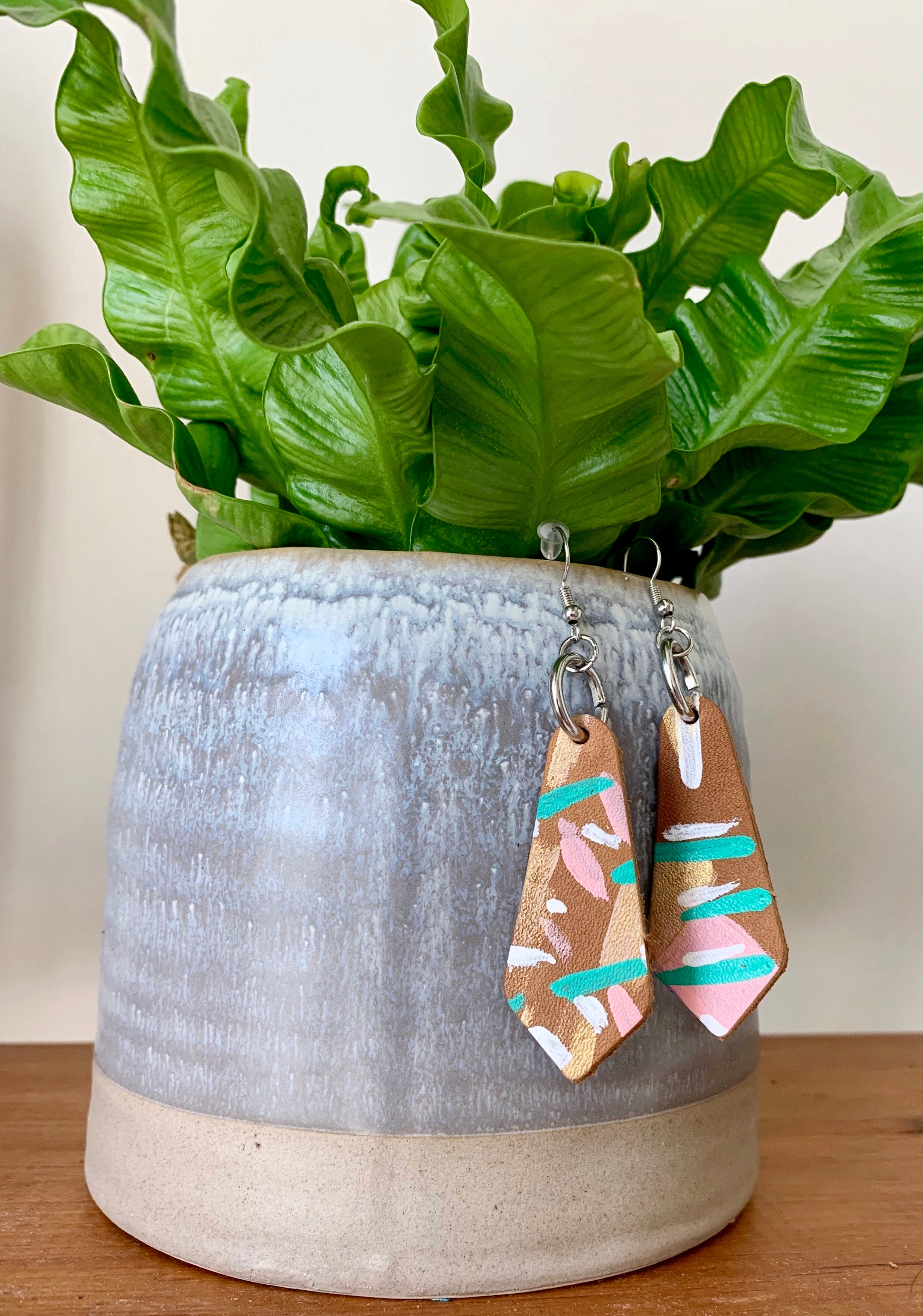 Painted Drop Earrings