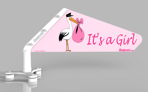 It's A Girl Car Flag, SKU: 0005