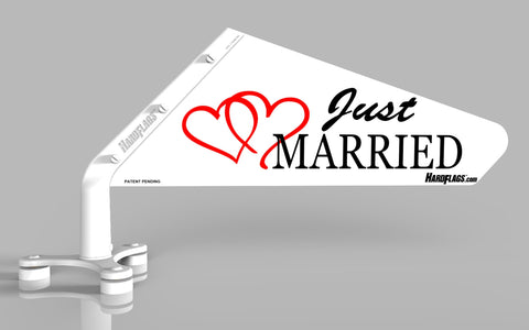 Just Married Car Flag, SKU: 0007