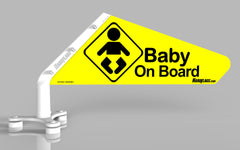 Baby On Board Car Flag, SKU: 0029