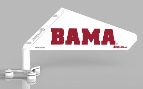 BAMA White Car Flag, SKU: 0097