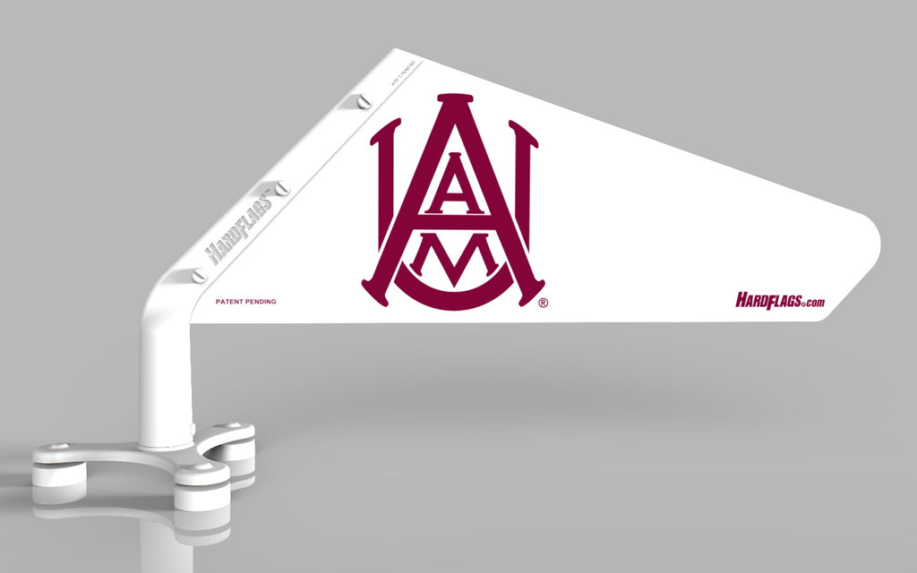 Alabama A&M White Car Flag, SKU: 0116