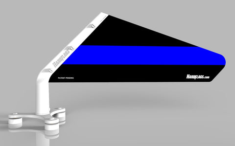 The Thin BLUE Line Car Flag, SKU: 0120