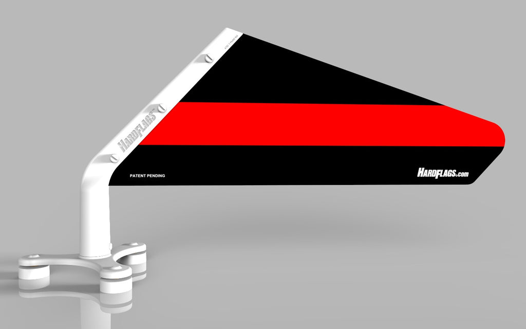 The Thin RED Line Car Flag, SKU: 0121