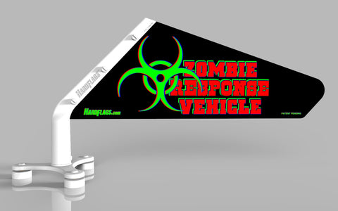 Zombie Response Vehicle Car Flag, SKU: 0099