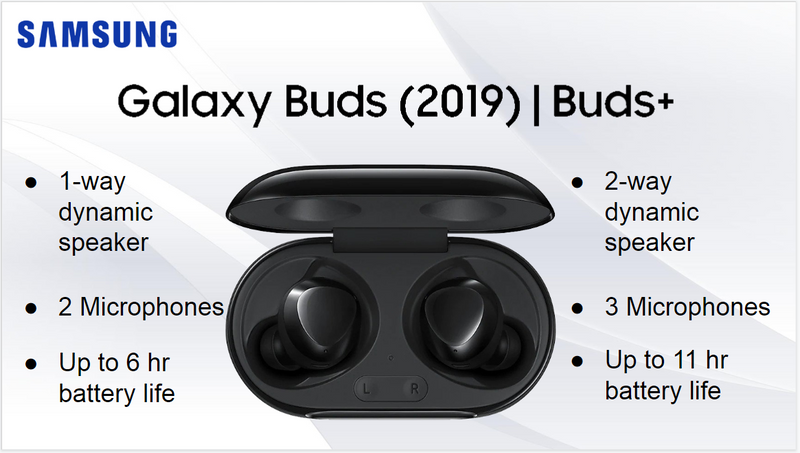 Samsung Galaxy Buds vs Buds+