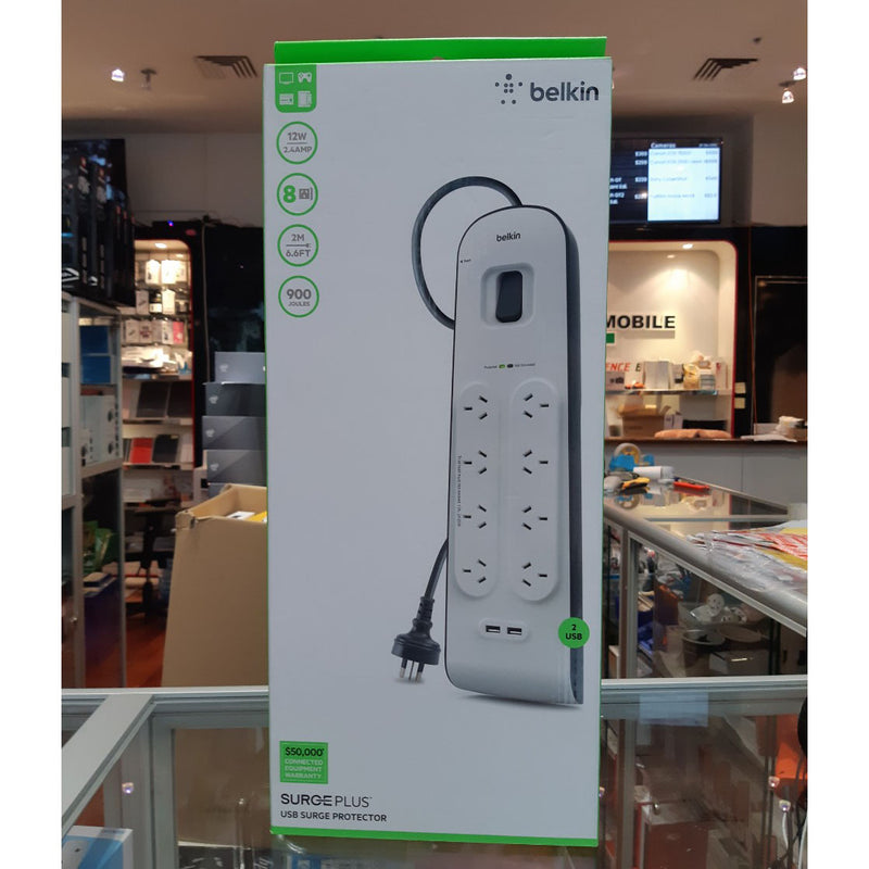 Belkin 8 Outlet Surge Protector with 2 USB Charging Port
