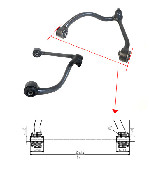 Kia Sorento BL 2002-2006 Control Arm Upper Left Hand Side