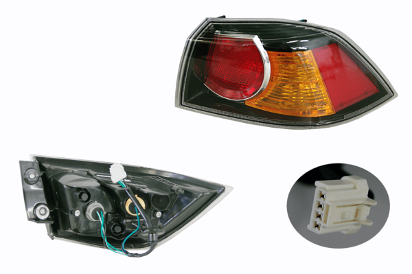 Mitsubishi Lancer CJ/CF 2007- Onwards Outer Tail Light Right Hand Side - All AutomotiveParts