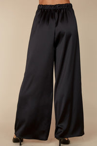 The Sabrina satin pants- black