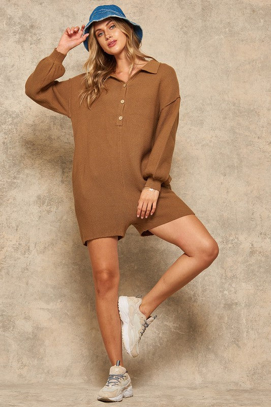The Sofi romper - cocoa