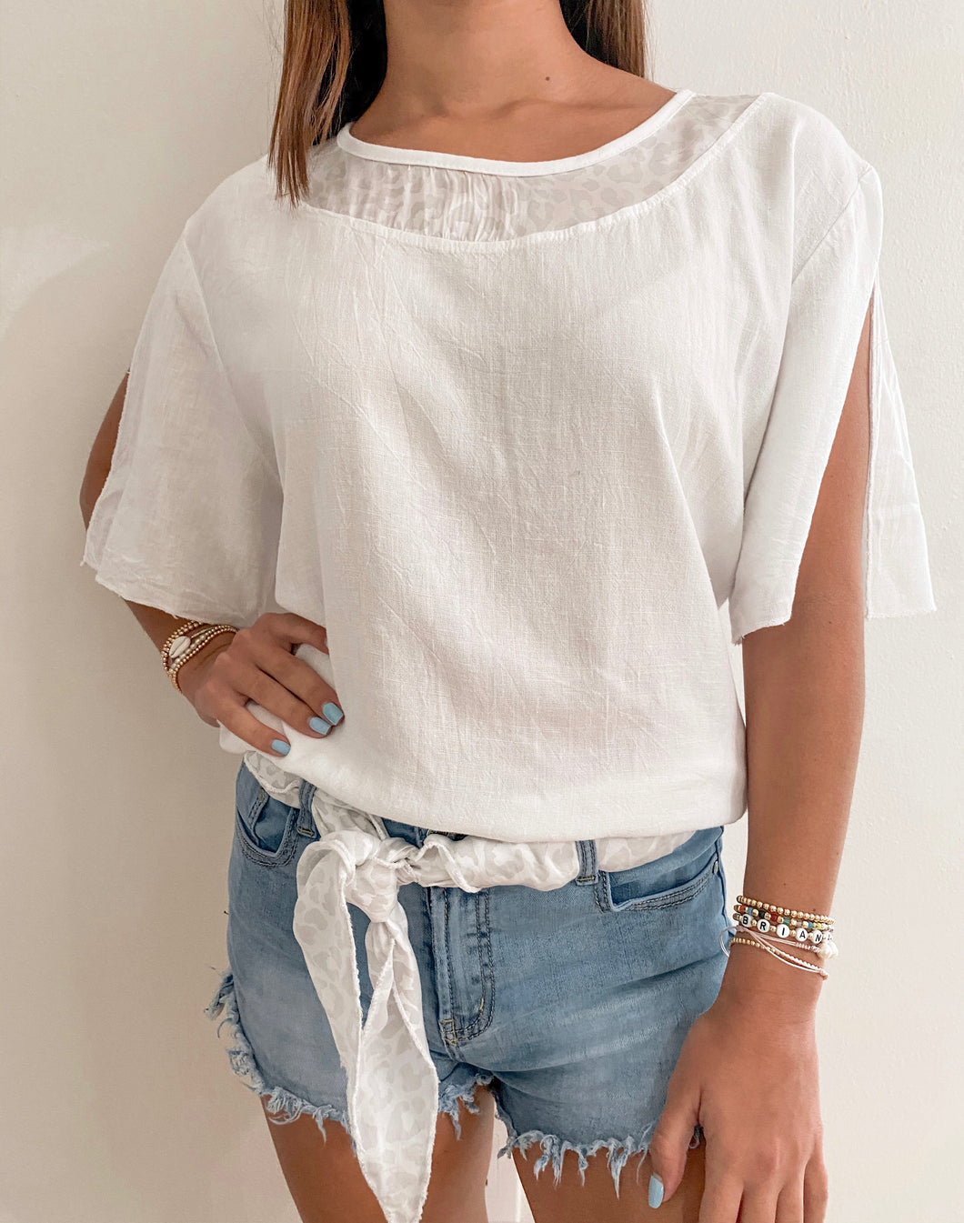 The Rome top - white