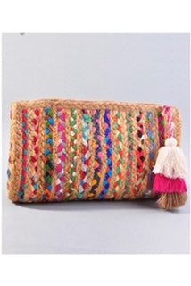 Multi-Color clutch w/tassel