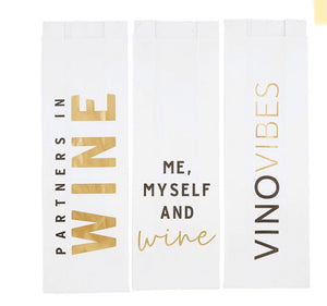 Paper Wine Bags- Wine Assorted 6 pk