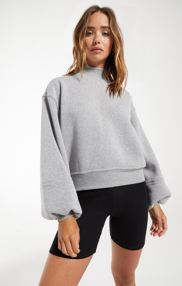 Skylar Grey Mock Neck Pullover