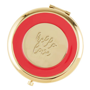 Hello Love Compact Mirror