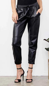 Miley Leather Joggers