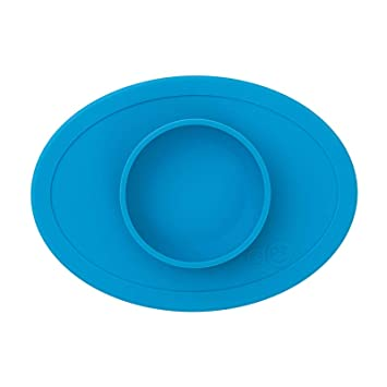 EzPz Blue Tiny Bowl Suction Bowl w/ Travel bag (Home, Restaurant, or Playtime)