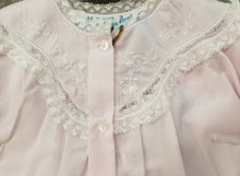Load image into Gallery viewer, Feltman Brothers Newborn Pink Embroidered Lacy Yoke Daygown