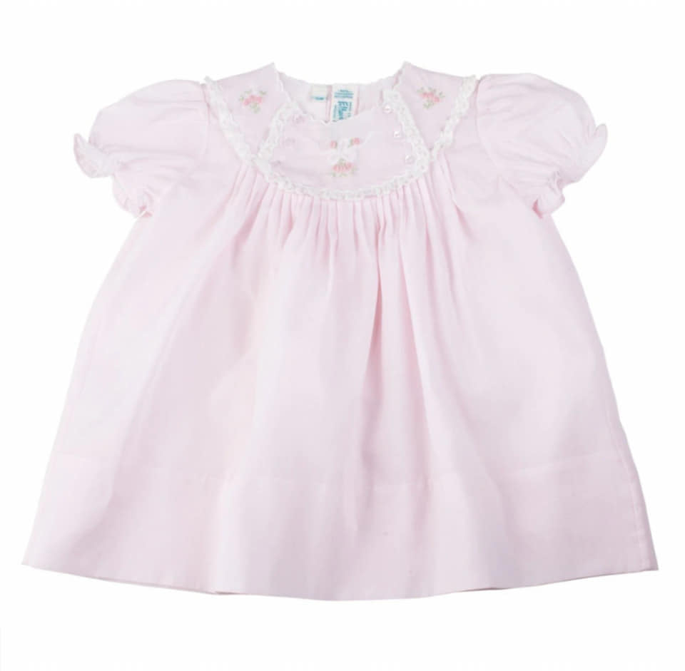 Feltman Brothers Newborn Pink Vintage Bow Dress