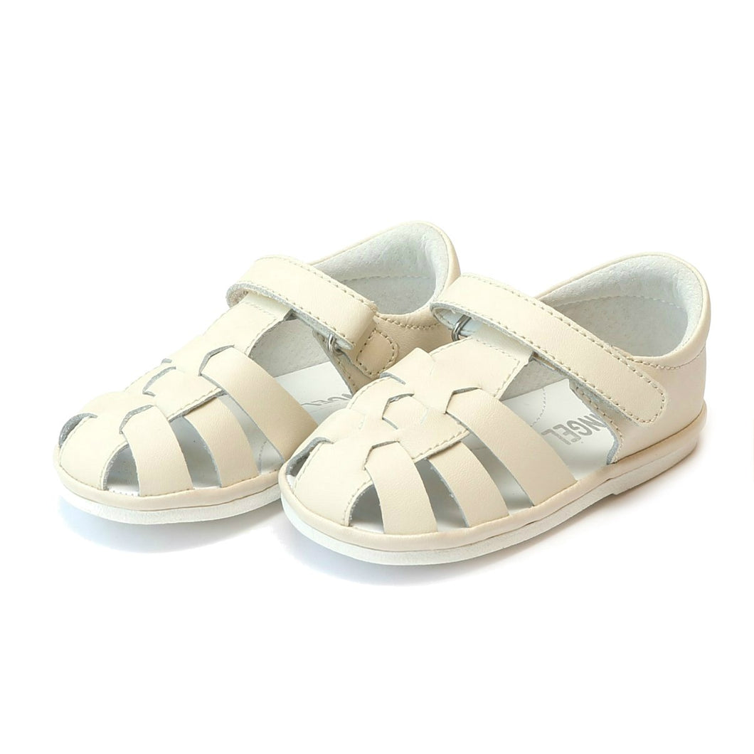Angel Beige Leather Fisherman Sandal (Baby)