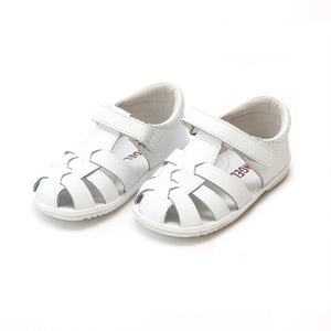 Angel White Leather Fisherman Sandal (Baby)
