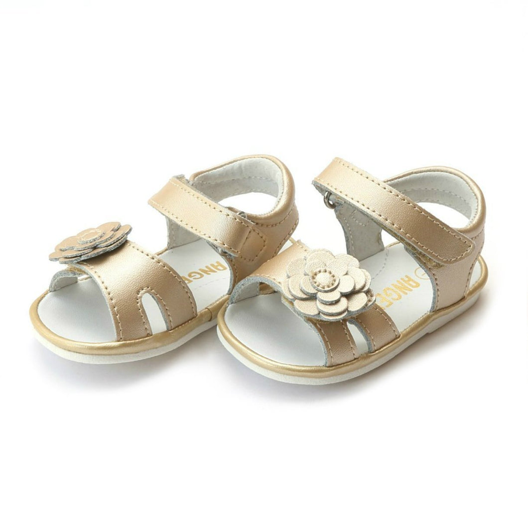 Angel Gold // Flower Cutout Sandal (Baby)