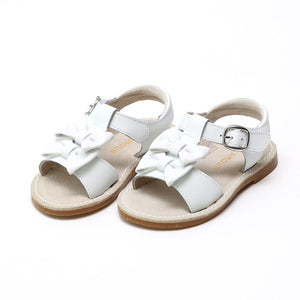 L'amour White //  Double Bow Sandal