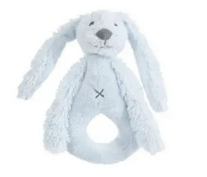 Bunny Rattle - Richie Rabbit Rattle from Happy Horse Available in Pink, Blue, Gray & Ivory