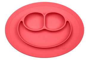 EzPz Coral Mini Mat Suction Plate w/ Travel bag (Home, Restaurant, or Playtime)