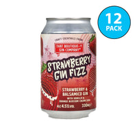 Boutique-y Strawberry Gin Fizz Cocktail Cans 12x330ml