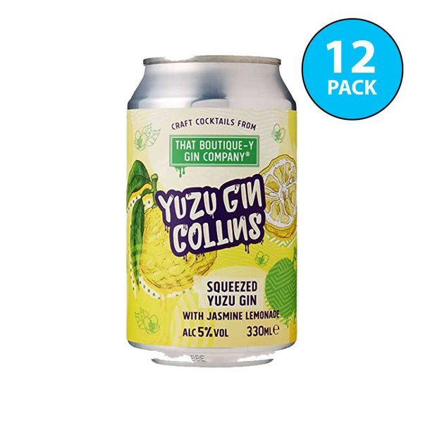 Boutique-y Yuzu Gin Collins Cocktail Cans 12x330ml