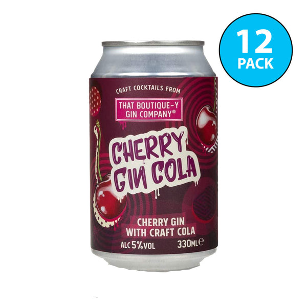 Boutique-y Cherry Gin Cola Cocktail Cans 12x330ml