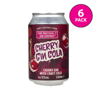 Boutique-y Cherry Gin Cola Cocktail Cans 6x330ml
