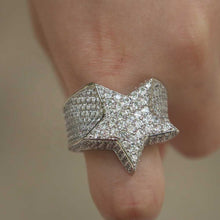 Load image into Gallery viewer, STAR RING | - 18K White Gold