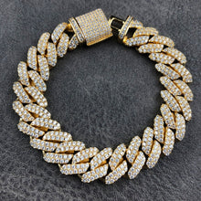 Load image into Gallery viewer, PRONG CUBAN BRACELET | 12mm |  - 18K Gold