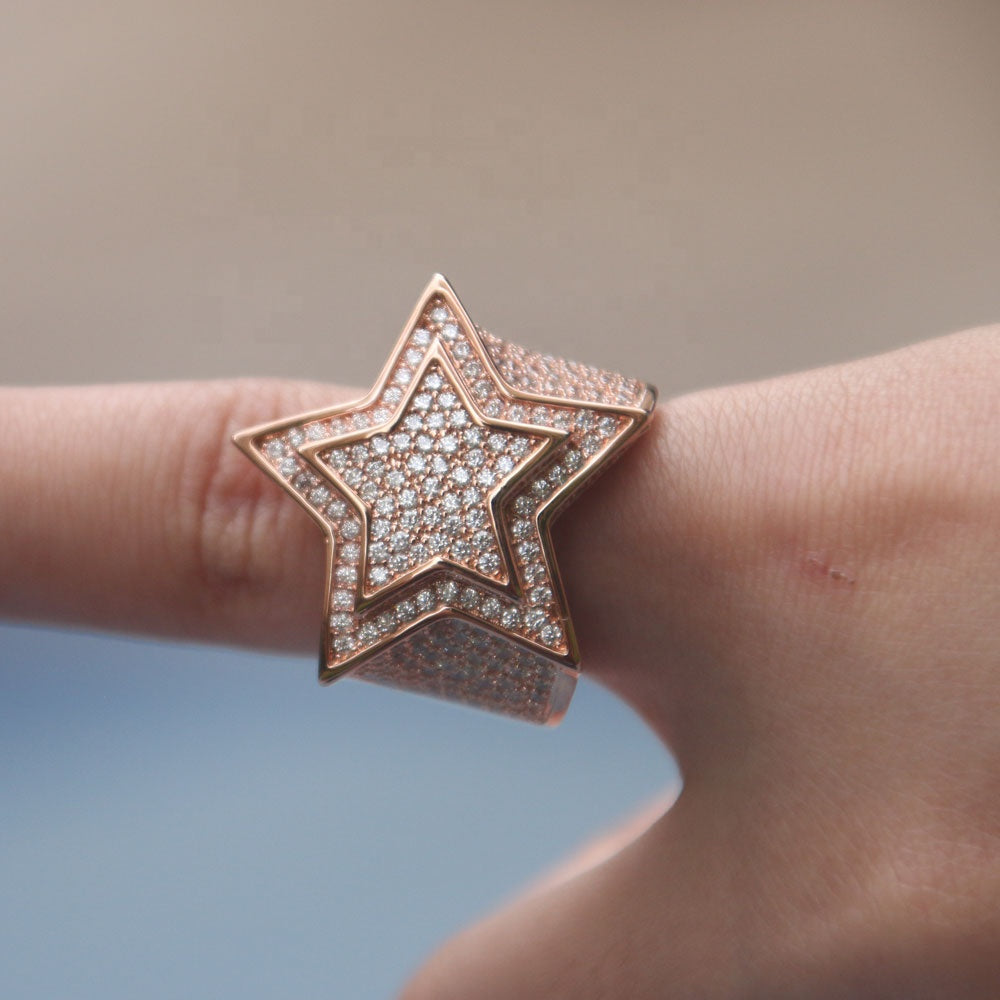 STAR RING | - 18K Rose